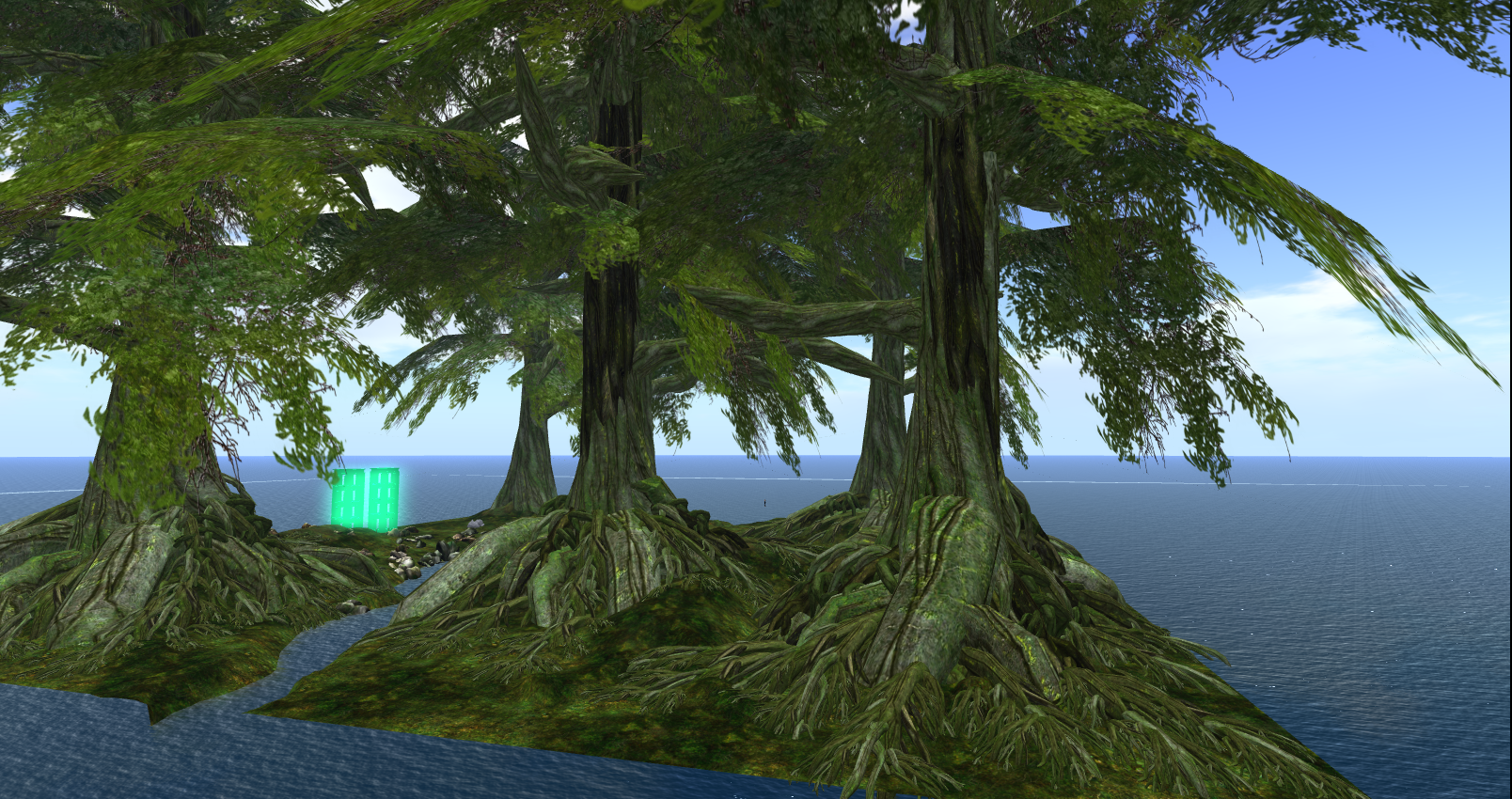 Lothlorien on Chakryn Forest, a work in progress by Andrek Lowell