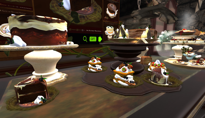 Treats await in Sirenes et Moineaux Patisserie on Alchemy Immortalis