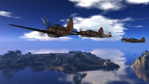 Flying Tigers in the air: photograph by Wildstar Beaumont