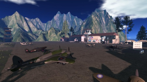 Flying Tigers on the ground: photograph by Wildstar Beaumont
