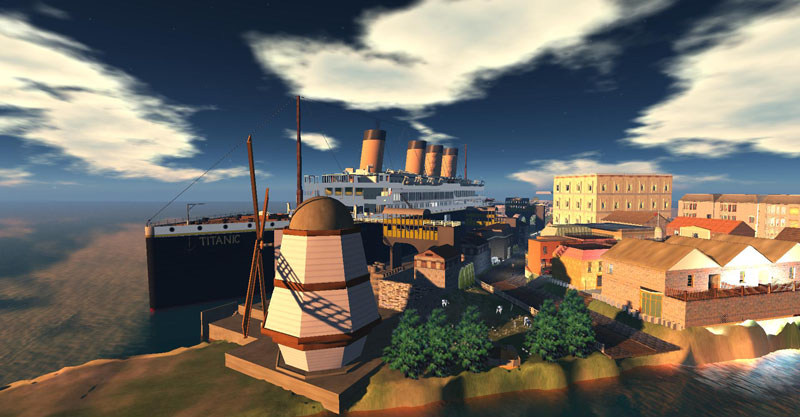 The RMS Titanic in Inworldz, photograph by Wildstar Beaumont