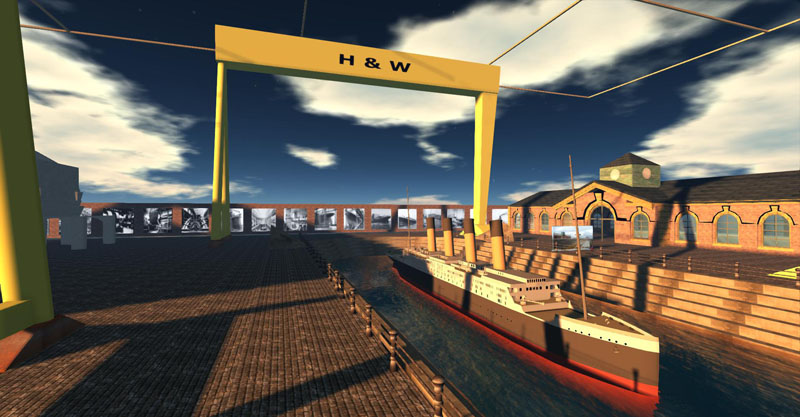 THE RMS Titanic at the Harland and Wolff shipyard in Kitely (and OSGrid), photograph by Wildstar Beaumont