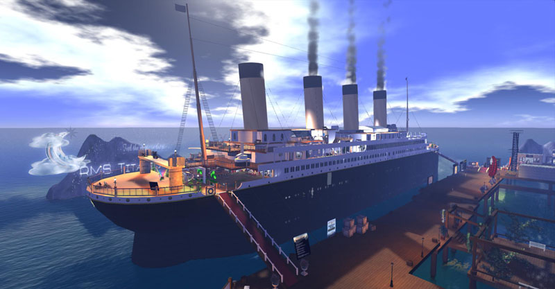 The RMS Titanic in Second Life, photograph by Wildstar Beaumont