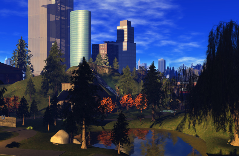 A view of Aero Pines - city and park