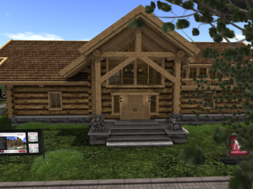 Cain Maven's log home at the Expo