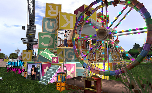 The ruins of the cancer hospital, reclaimed by natureSurvivors and Caregivers celebrate with a funfair - phographed by Beq Janus