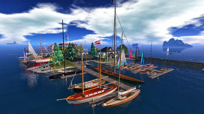 Blake Sea: Sailing in Second Life; photograph by Wildstar Beaumont