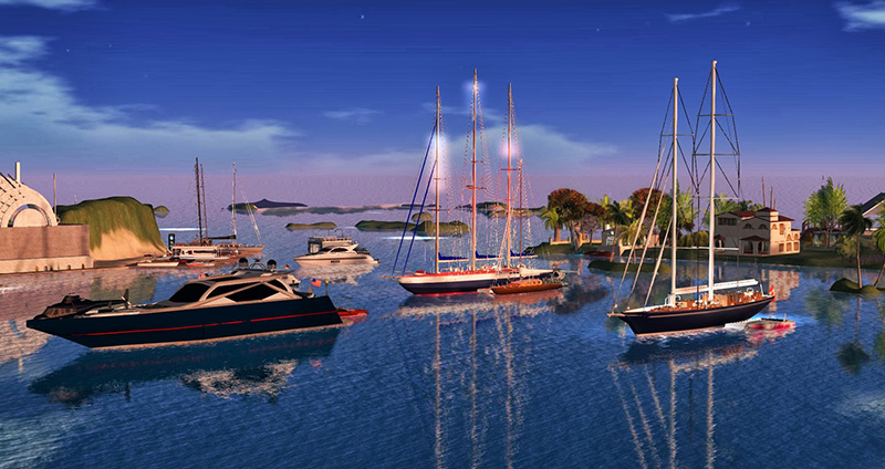 Holly Kai One: Sailing in Second Life; photograph by Wildstar Beaumont