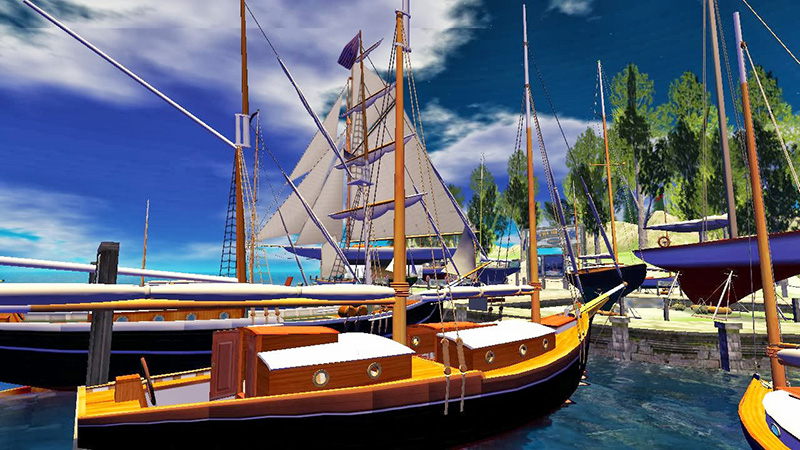 Isla de Jacqinda: Sailing in Second Life; photograph by Wildstar Beaumont