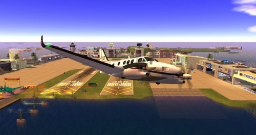Taking off from Hollywood Airport - photograph by Wildstar Beaumont