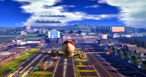 Taking off from New Horizons Airport - photograph by Wildstar Beaumont