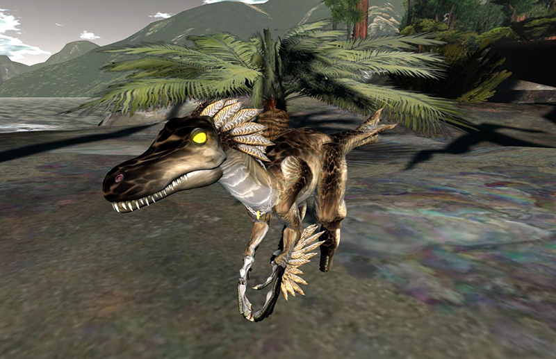 One of the dinosaurs of Fort Nowhere