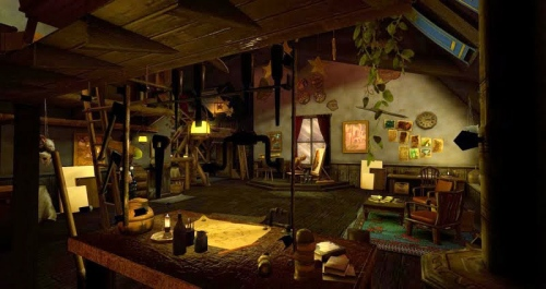 The Atelier - the newst of Kayle Matzerath's Dreamscenes, photographed by Wildstar Beaumont