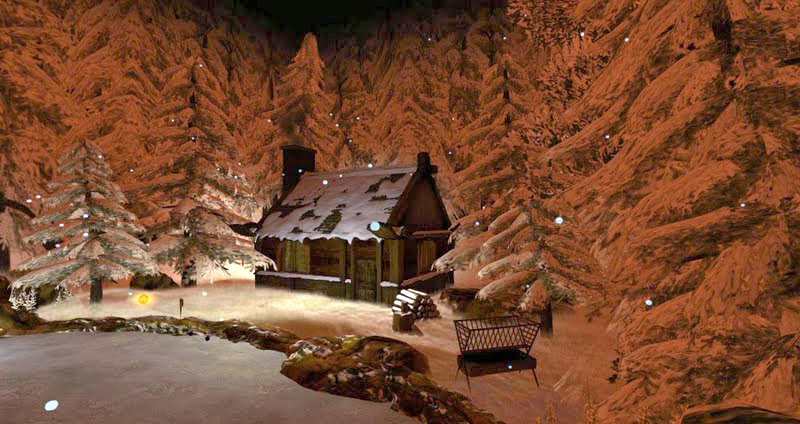 The Winter Cabin in the Woods - another Dreamscene created by Kayle Matzerath, photographed by Wildstar Beaumont