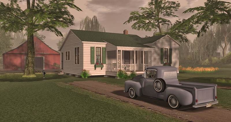 Johnny Cash' boyhood home, photographed by Wildstar Beaumont
