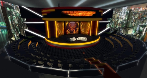 Firestorm auditorium, photographed by Wildstar Beaumont