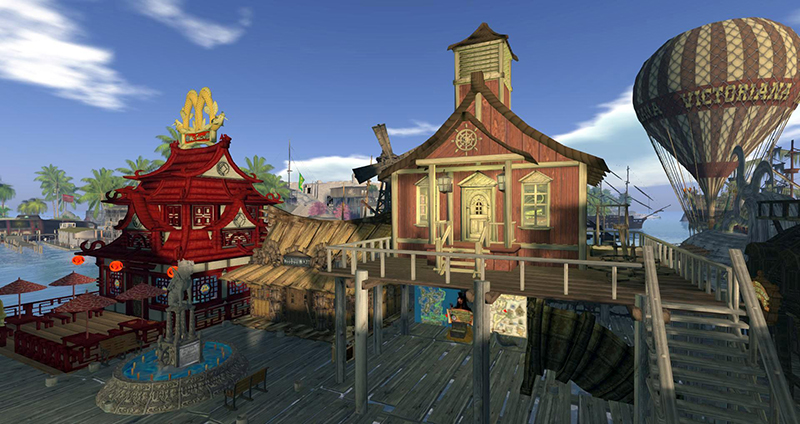 The Freeport Township of Flotsam in Blake Diego photographed by Wildstar Beaumont