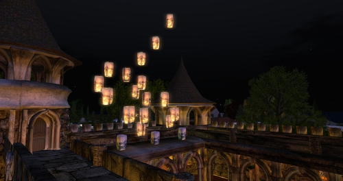 Home and Garden Expo 2014: the Lantern Ceremony at the Prim Perfect Castle, photographed by Wildstar Beaumont