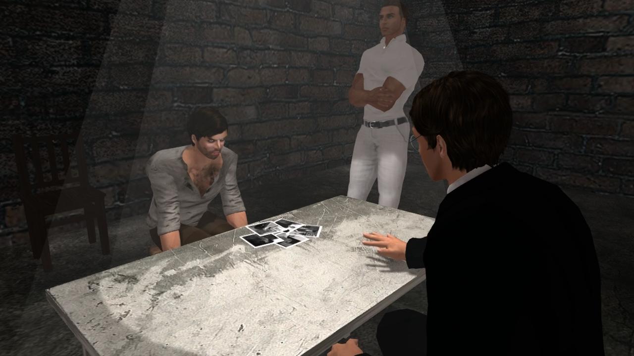 Interrogation in Season 2 Episode 1 of The Blackened Mirror
