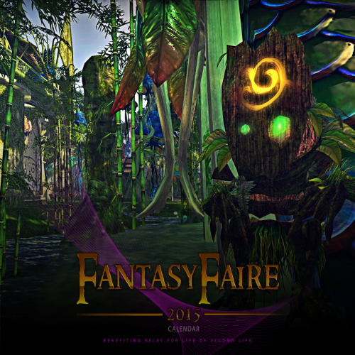 Fantasy Faire calendar cover: The Faerie Court - photograph by Ursula Floresby