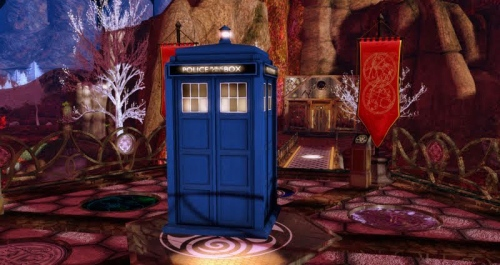 Tardis on New Gallifrey, photograph by Wildstar Beaumont