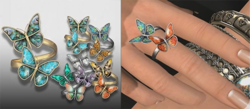 Butterfly rings by Earthstones