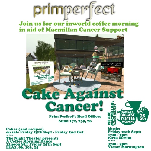 Cake Against Cancer is today!