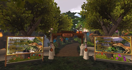 The Portal Park entrance to PaleoQuest, photographed by Wildstar Beaumont