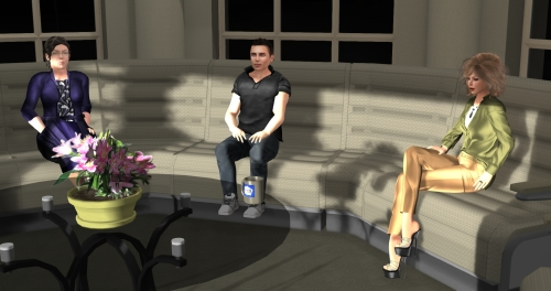 Ebbe Linden with Jo Yardley and Saffia Widdershins at SL12B