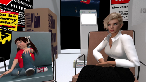 Saffia talks Second Life History with Marianne McCann