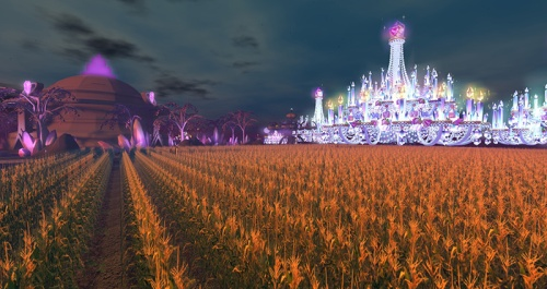 SL15B - the Cake and Main Stage, seen from the Cornfield, photographed by Wildstar Beaumont