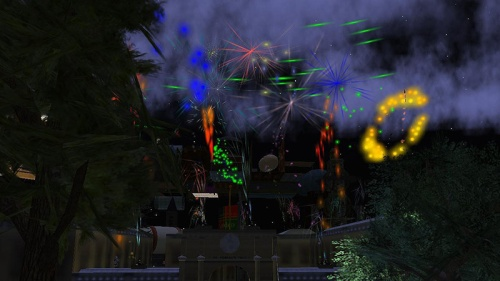 Fireworks at The Old Primgraph Press, photographed by Wildstar Beaumont
