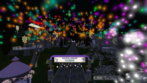 Fireworks at Relay for Life, photographed by Wildstar Beaumont