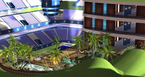 SLCS - an area to relax at the new stadium, photographed by Wildstar Beaumont