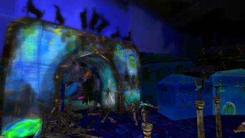 Beneath the waves in Genesia, photographed by Wildstar Beaumont