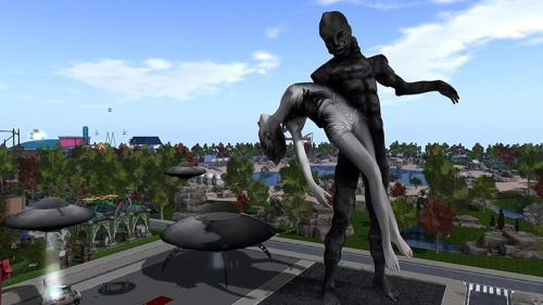 Sculpture by Bryn Oh at SL16B, photographed by Wildstar Beaumont
