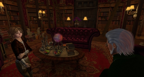Tak meets the Professor inside the Library, photographed by Wildstar Beaumont