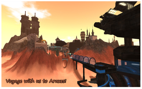 One of the collectible Designing Worlds postcards at SL17B