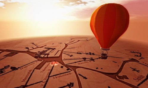 Flying over the Valley of the Kings