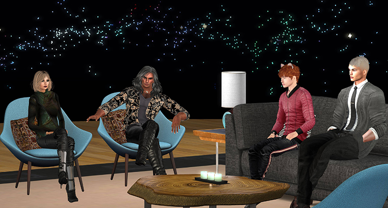 Patch and Brett Linden, in conversation with Saffia and Elrik, photographed by Wildstar Beaumont